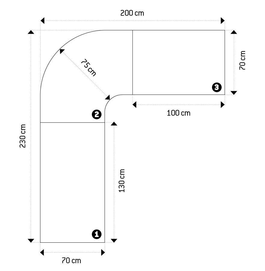 bureau d 39 angle alaska en bois blanc laqu design bureau design. Black Bedroom Furniture Sets. Home Design Ideas