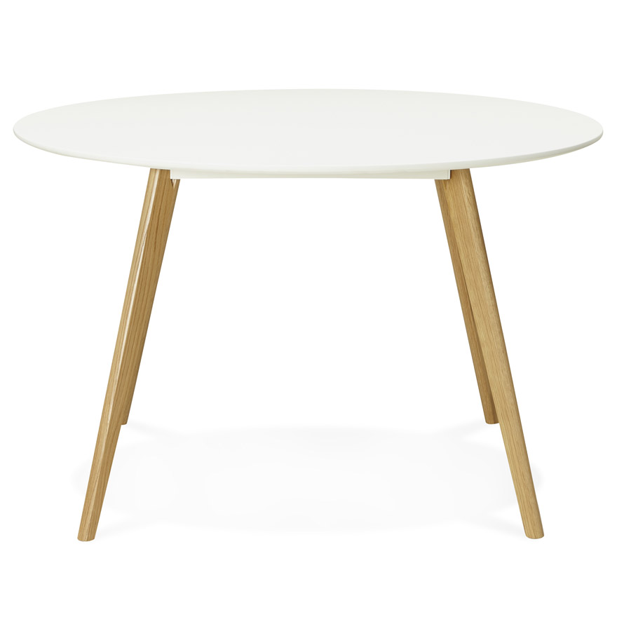 table de cuisine ronde 39 amy 39 blanche style scandinave ebay. Black Bedroom Furniture Sets. Home Design Ideas