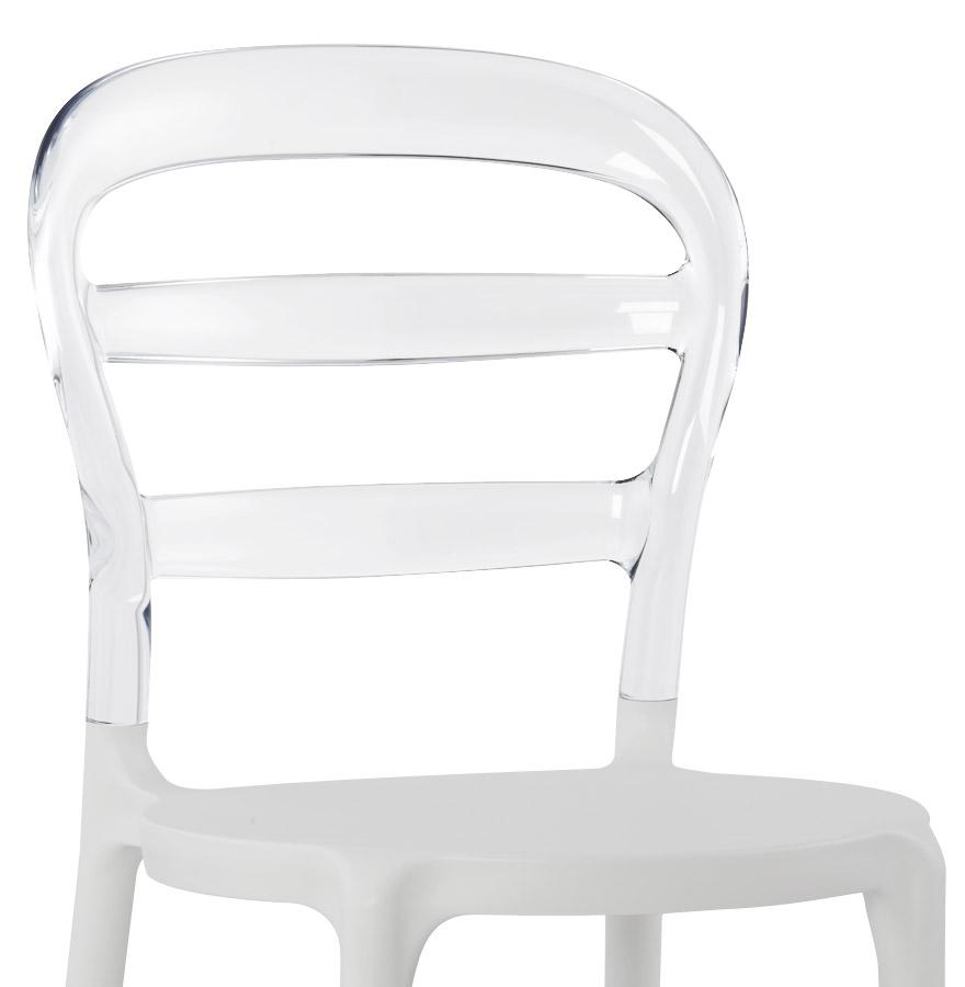 Chaise design baro blanche transparente en polycarbonate chaise moderne - Chaise en verre transparente ...