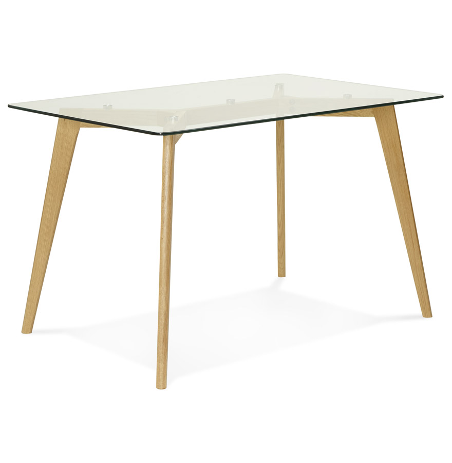 bureau droit bugy en verre petite table design. Black Bedroom Furniture Sets. Home Design Ideas