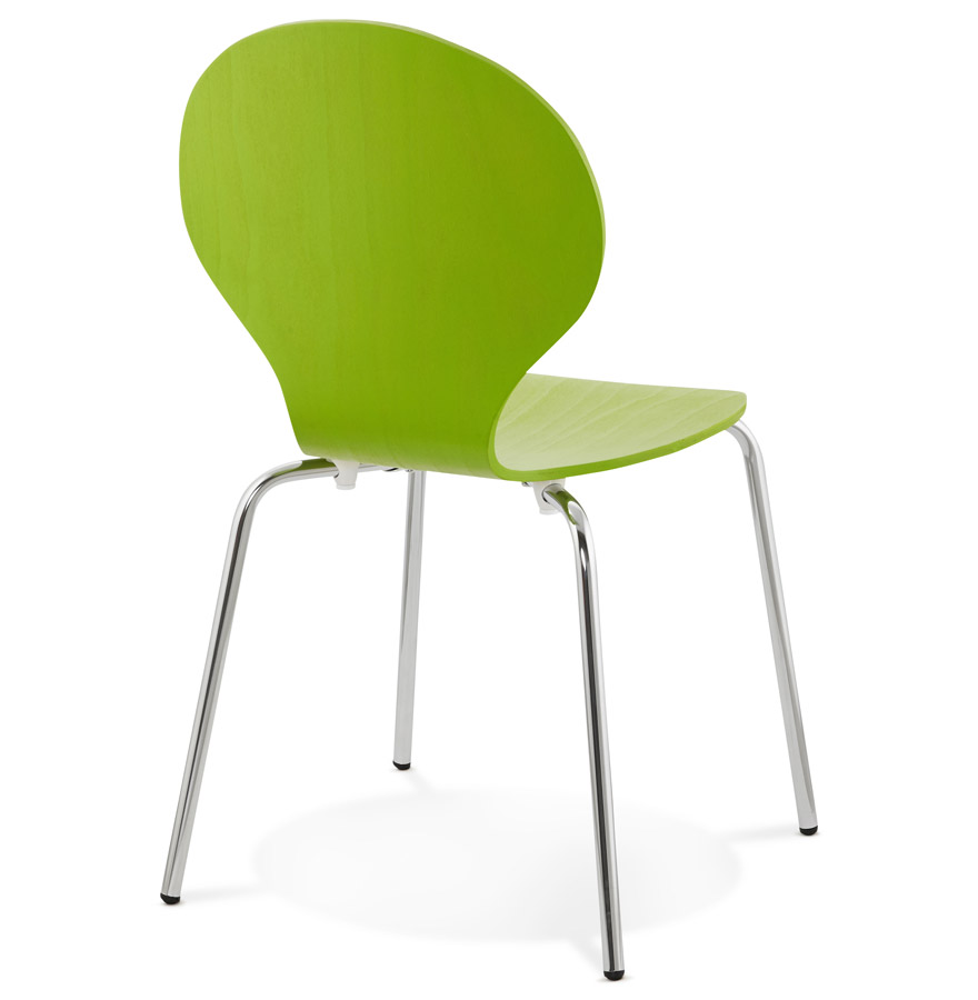 Détails sur Chaise de cuisine BUZZ en bois vert