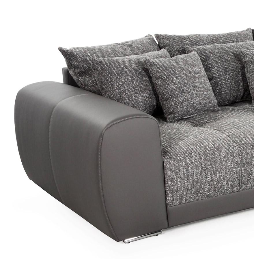 grand canap droit byouty 4 places gris fonc canap design. Black Bedroom Furniture Sets. Home Design Ideas