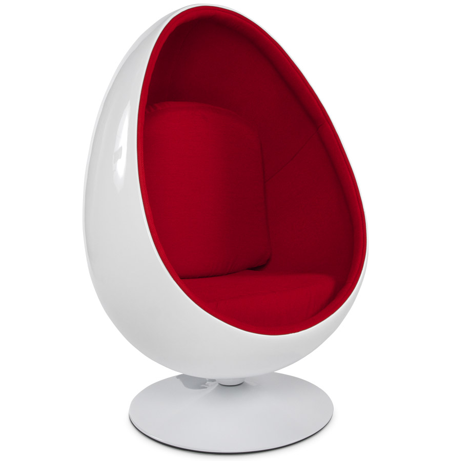 fauteuil uf egg cocoon blanc rouge fauteuil de salon. Black Bedroom Furniture Sets. Home Design Ideas