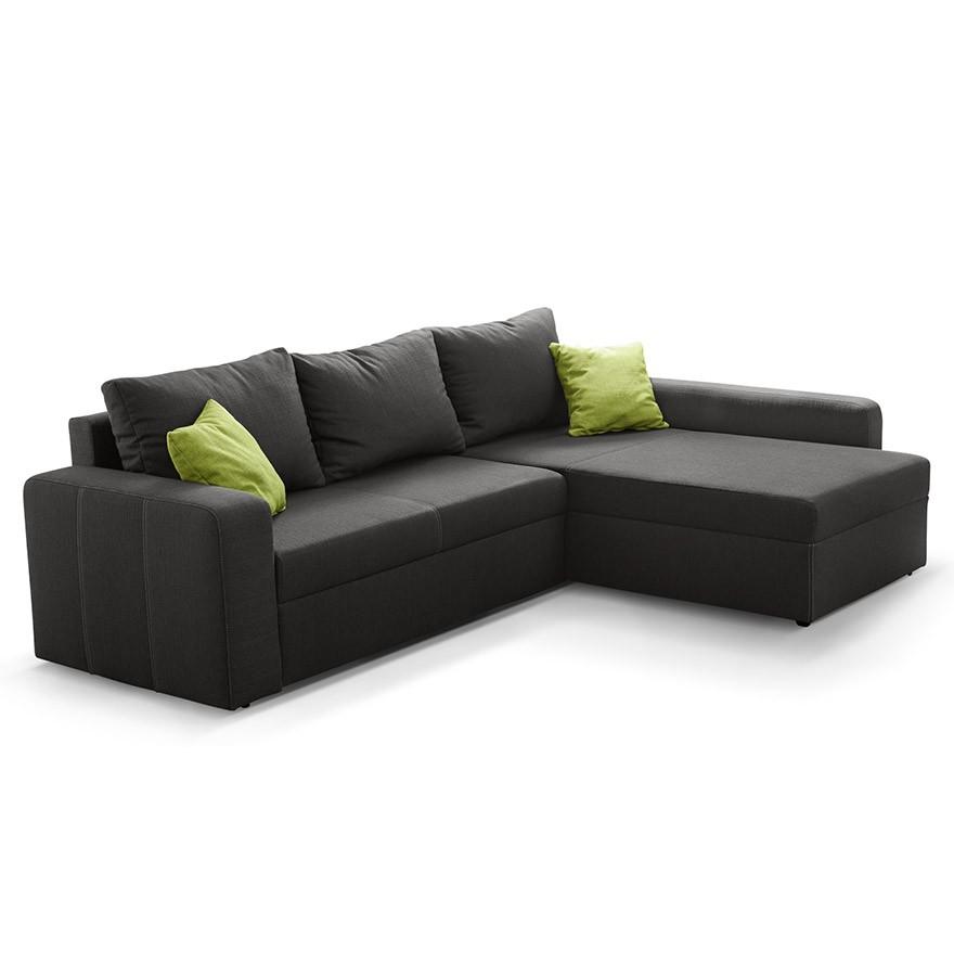 canap d 39 angle design malika en tissu gris fonc. Black Bedroom Furniture Sets. Home Design Ideas