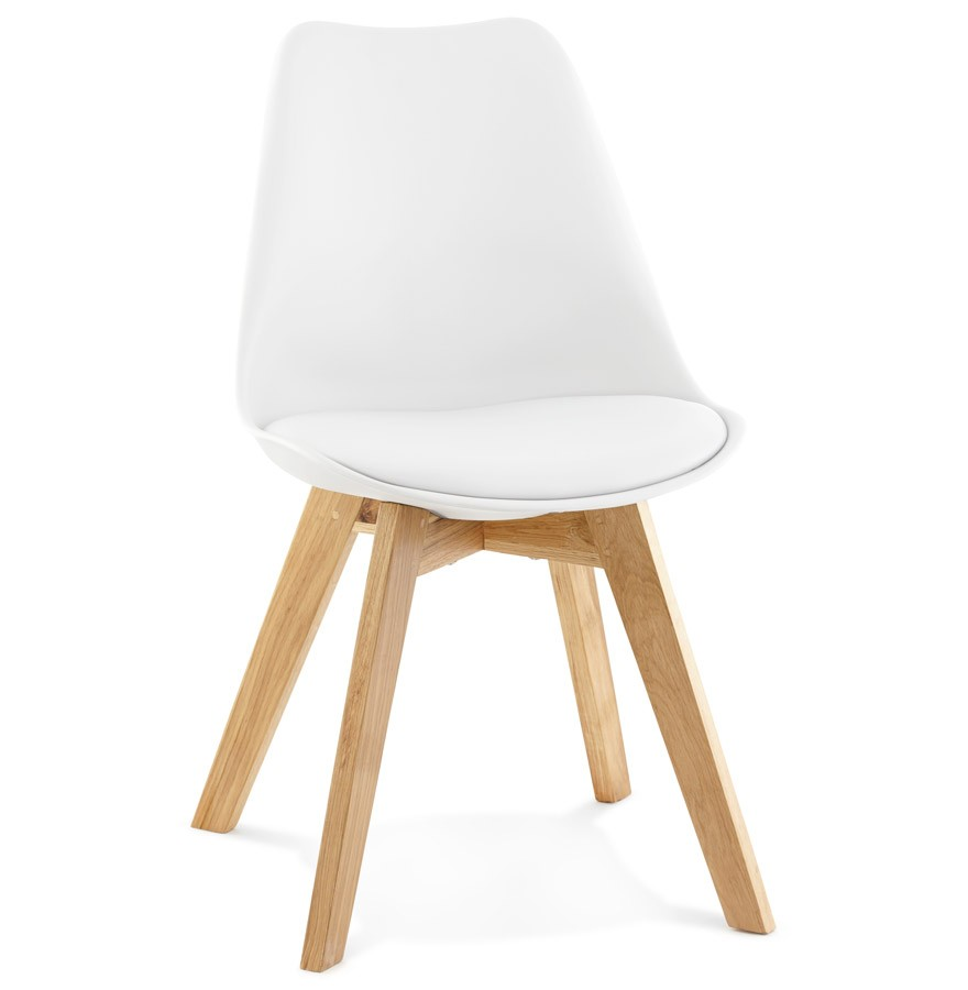 Chaise moderne teki blanche chaise scandinave - Chaise moderne blanche ...