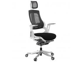 Fauteuil de bureau ergonomique 'TEKNIK' en tissu noir