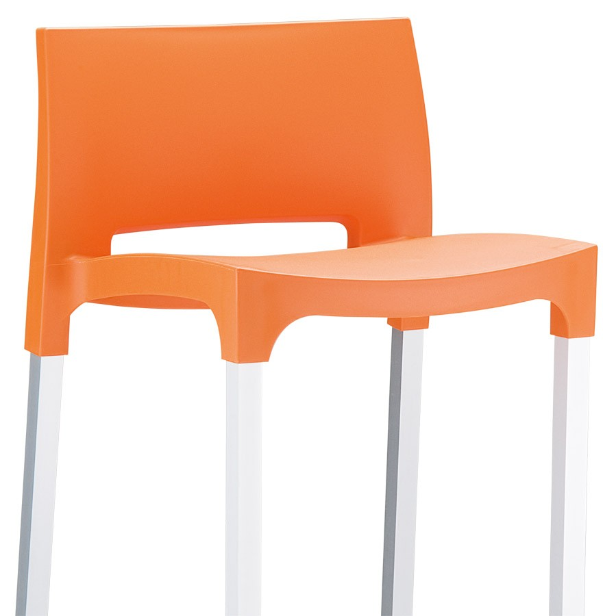 tabouret de bar orange tabouret de bar orange x2 elite achat vente tabouret de bar pvc acier. Black Bedroom Furniture Sets. Home Design Ideas