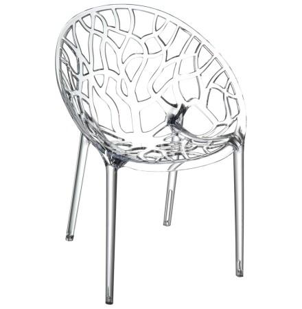 Chaise moderne 'GEO' transparente en polycarbonate