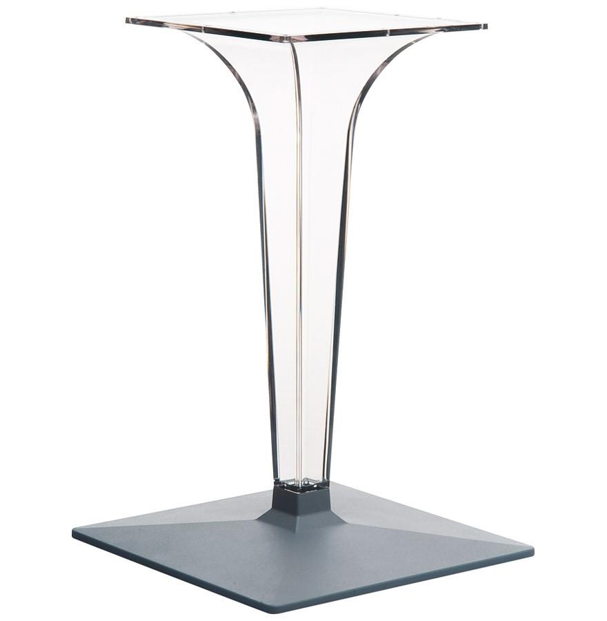 Pied de table dimo 70 transparent tr s design for Pied de table design inox