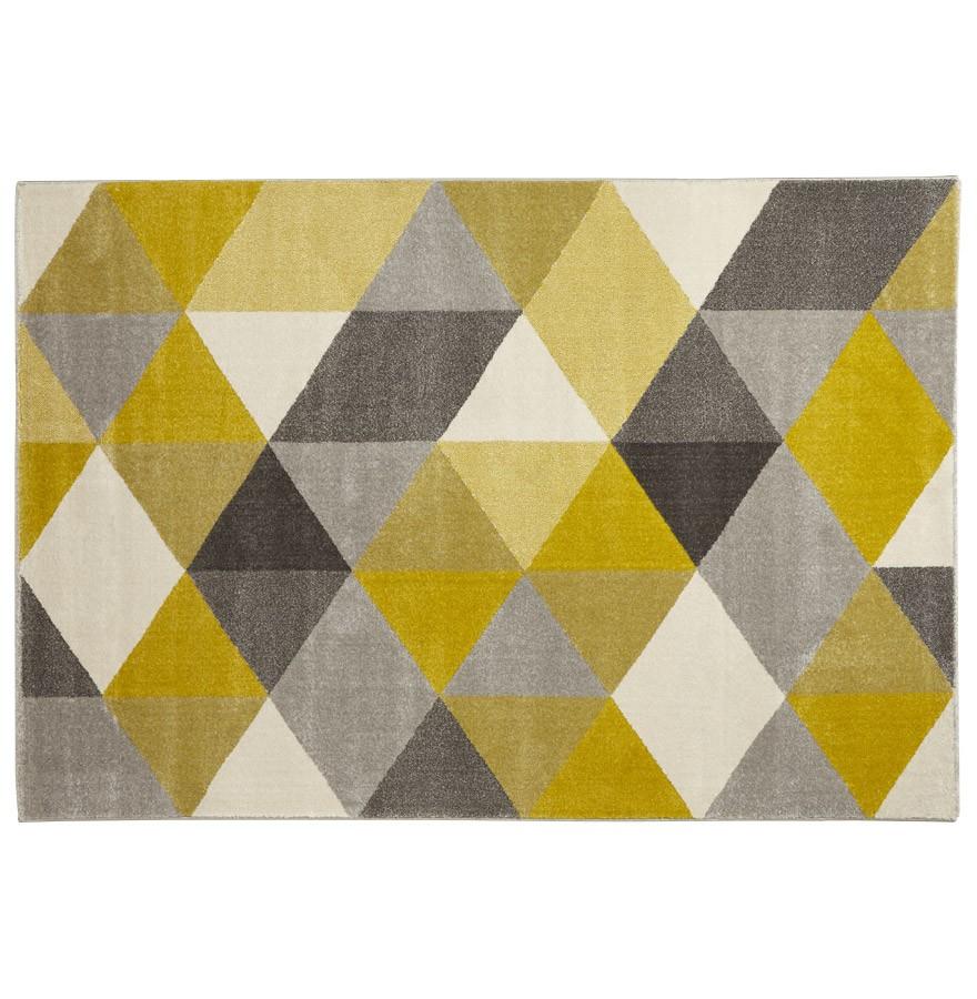 Tapis design GRAFIK 160/230 cm avec motifs graphiques jaunes