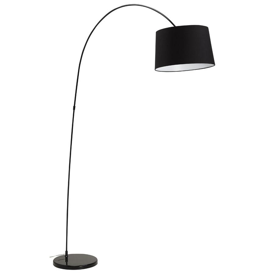 lampadaire arqu eklips noir lampe design. Black Bedroom Furniture Sets. Home Design Ideas