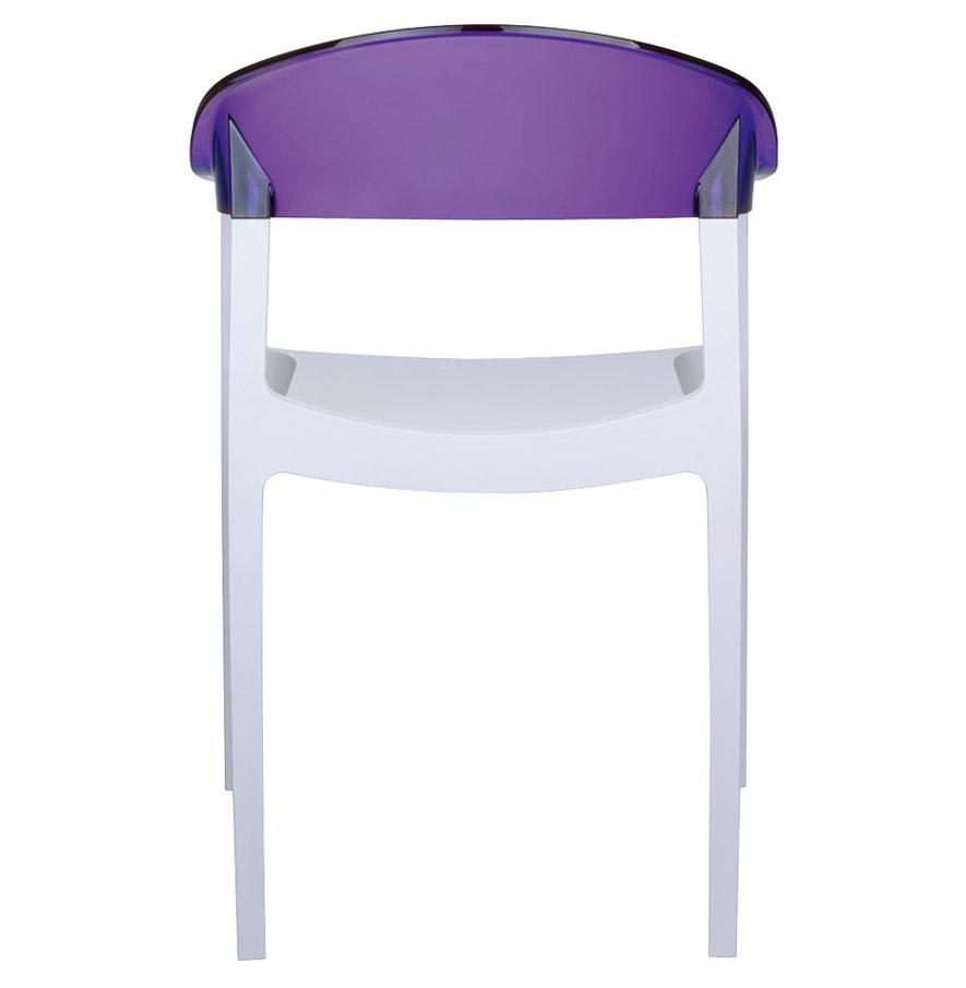 chaise design 39 ema 39 blanche et violette en mati re plastique ebay. Black Bedroom Furniture Sets. Home Design Ideas