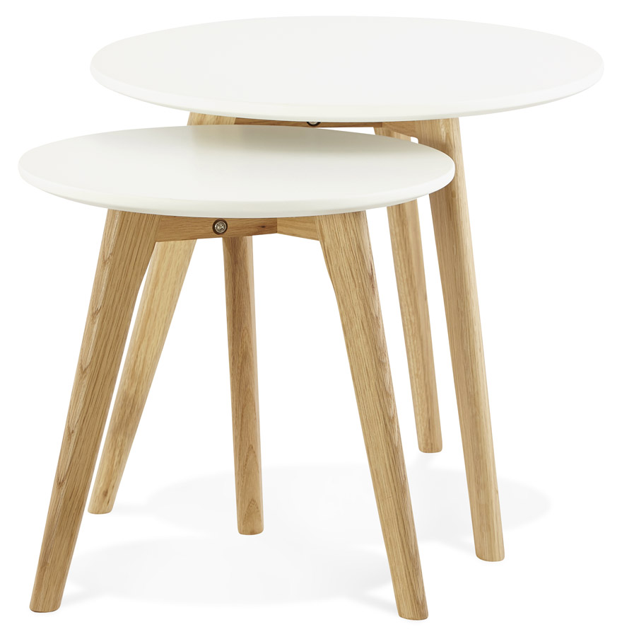table gigogne ronde gaby au design scandinave table d 39 appoint. Black Bedroom Furniture Sets. Home Design Ideas