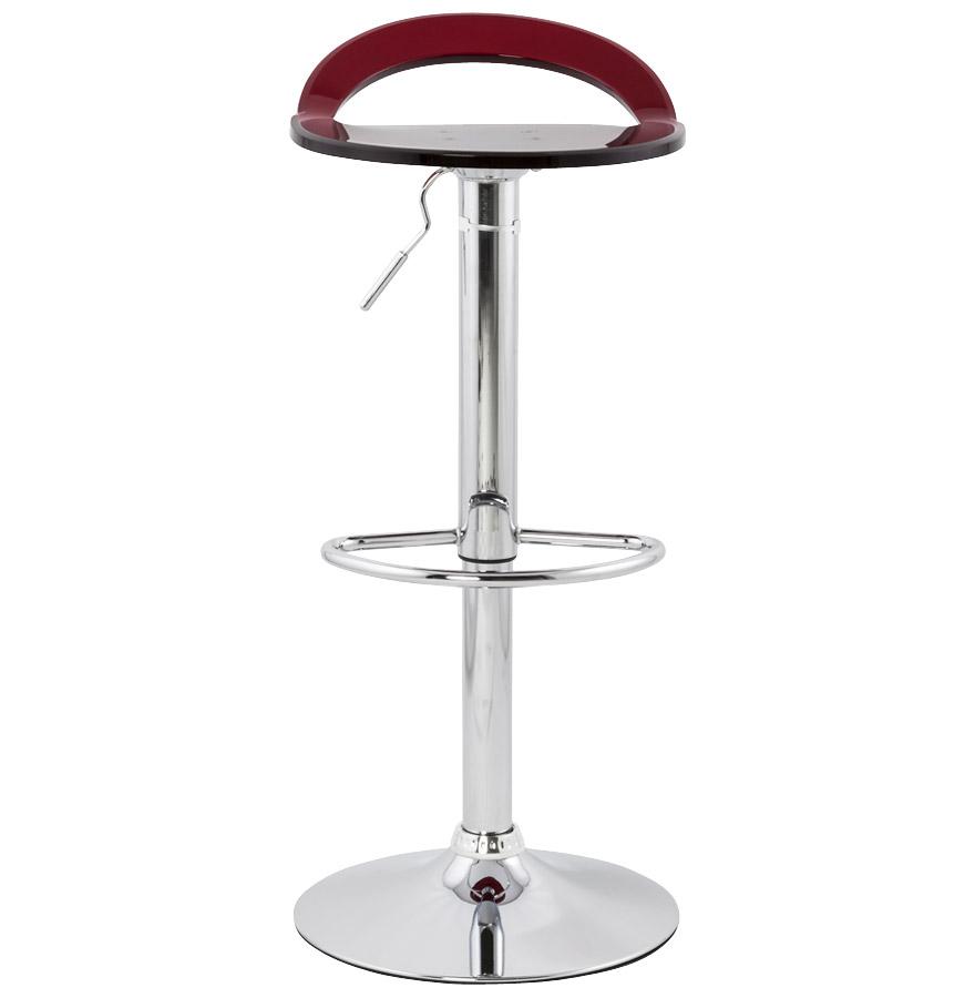 Tabouret de bar glamo plexiglas rouge ajustable en hauteur for Tabouret ajustable en hauteur