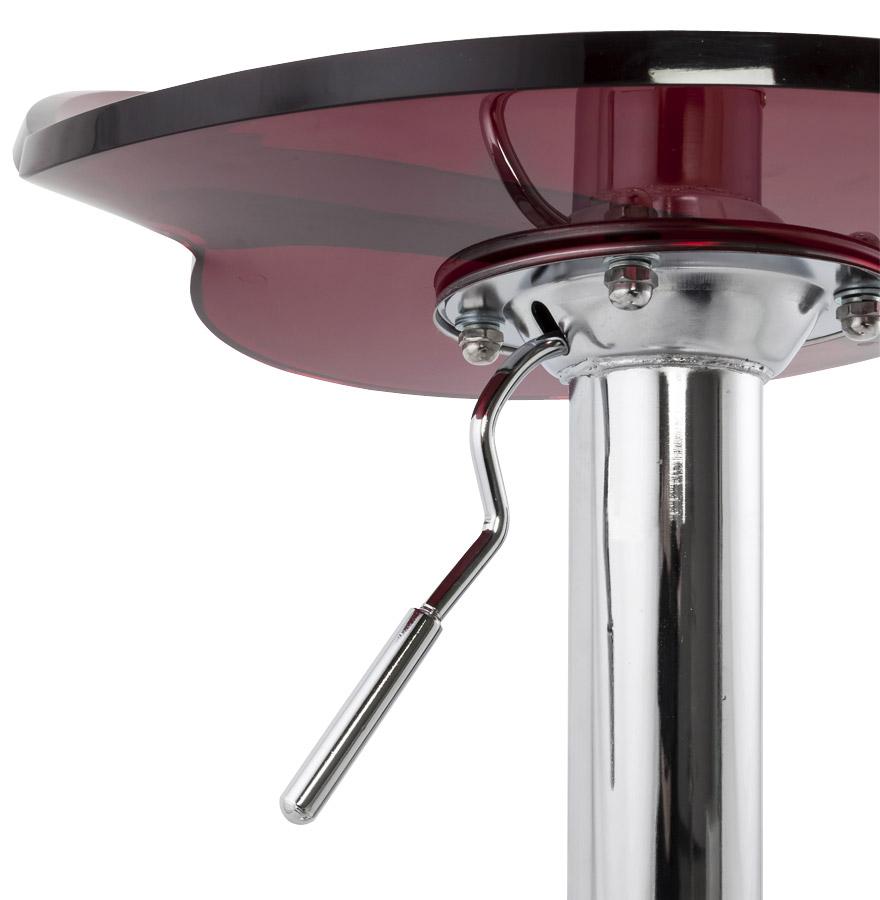 tabouret de bar glamo plexiglas rouge ajustable en hauteur. Black Bedroom Furniture Sets. Home Design Ideas