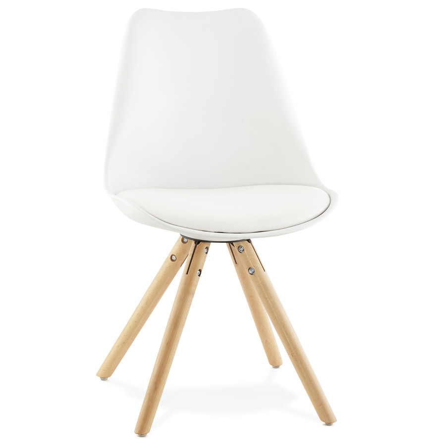 Chaise scandinave gouja blanche chaise design for Chaise scandinave plexi