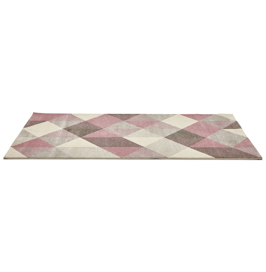 Tapis design grafik grand tapis de salon aux tons roses - Grand tapis de salon ...