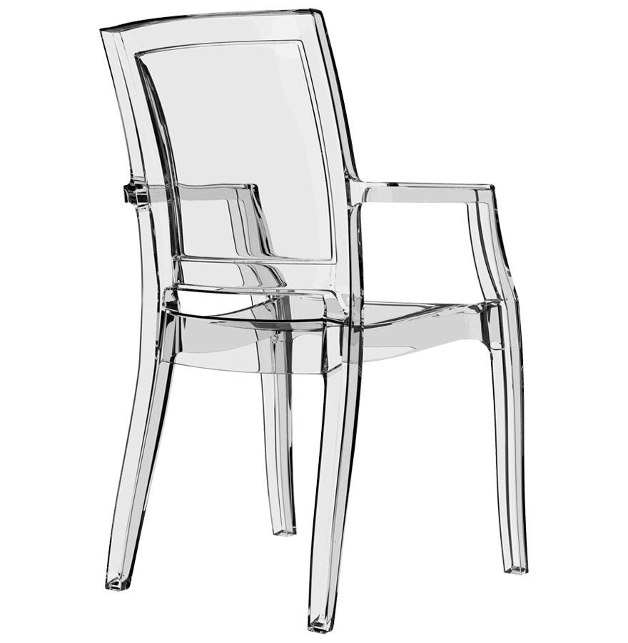 chaise design nala en polycarbonate transparent chaise moderne. Black Bedroom Furniture Sets. Home Design Ideas