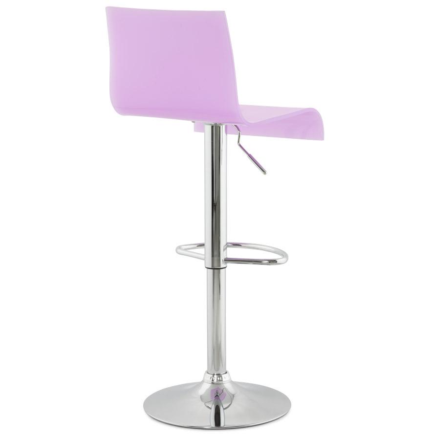 tabouret de cuisine nemo plexiglas rose r glable haut dossier. Black Bedroom Furniture Sets. Home Design Ideas