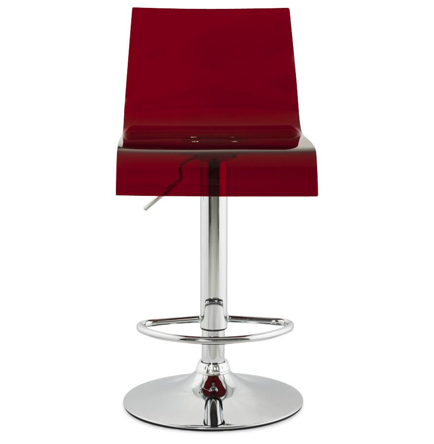 tabouret de cuisine nemo plexiglas rouge r glable haut dossier. Black Bedroom Furniture Sets. Home Design Ideas