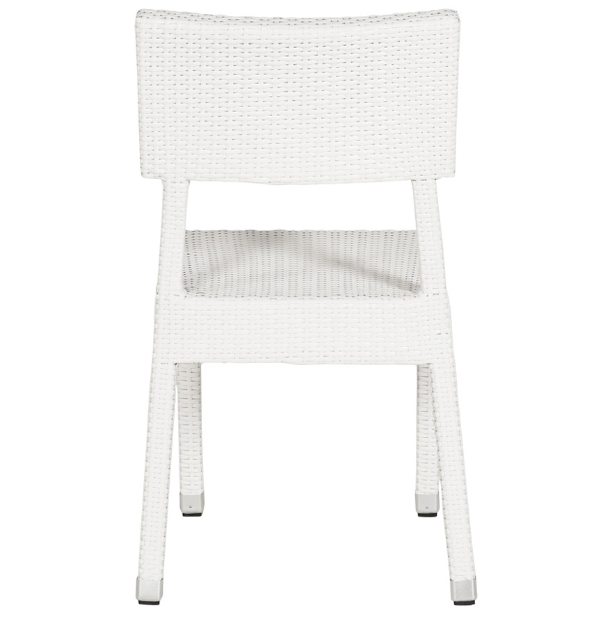 Chaise de terrasse 39 oreka 39 blanche en osier tress for Chaises en osier tresse