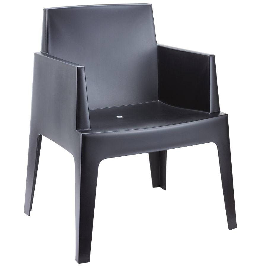 chaise design plemo noire chaise moderne. Black Bedroom Furniture Sets. Home Design Ideas