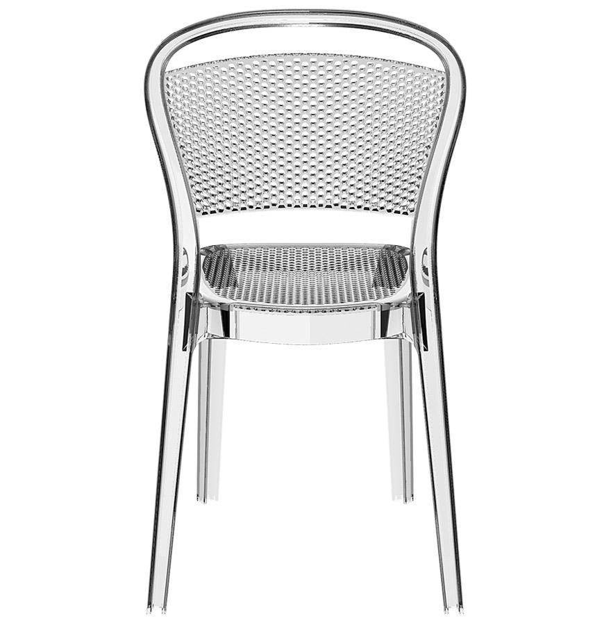 Chaise design storm chaise en mati re plastique transparente - Chaise en verre transparente ...