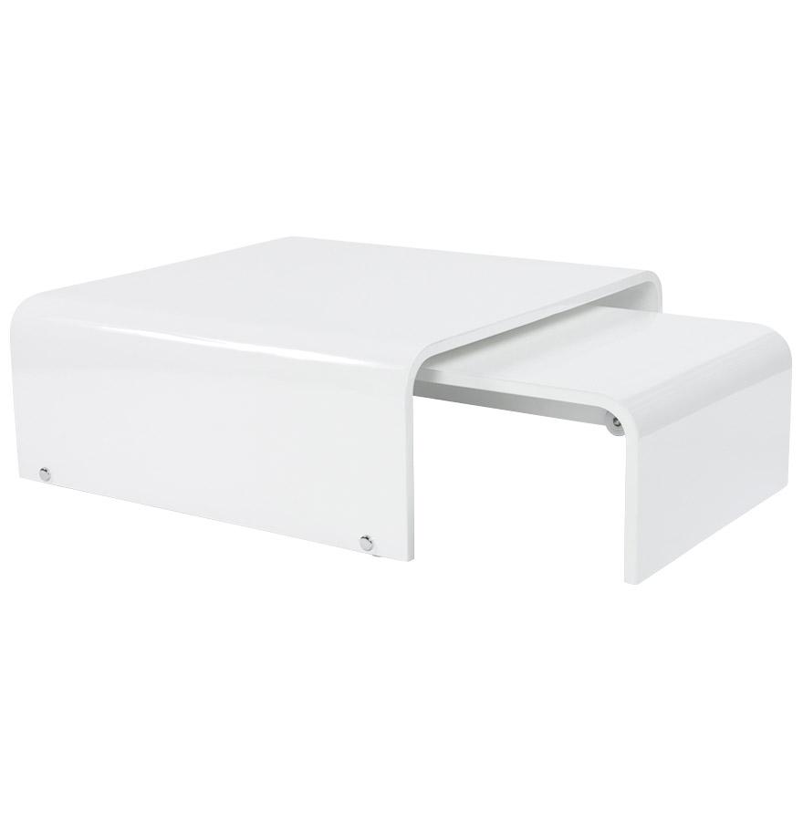 table basse twist blanche laqu e extensible table basse de salon. Black Bedroom Furniture Sets. Home Design Ideas