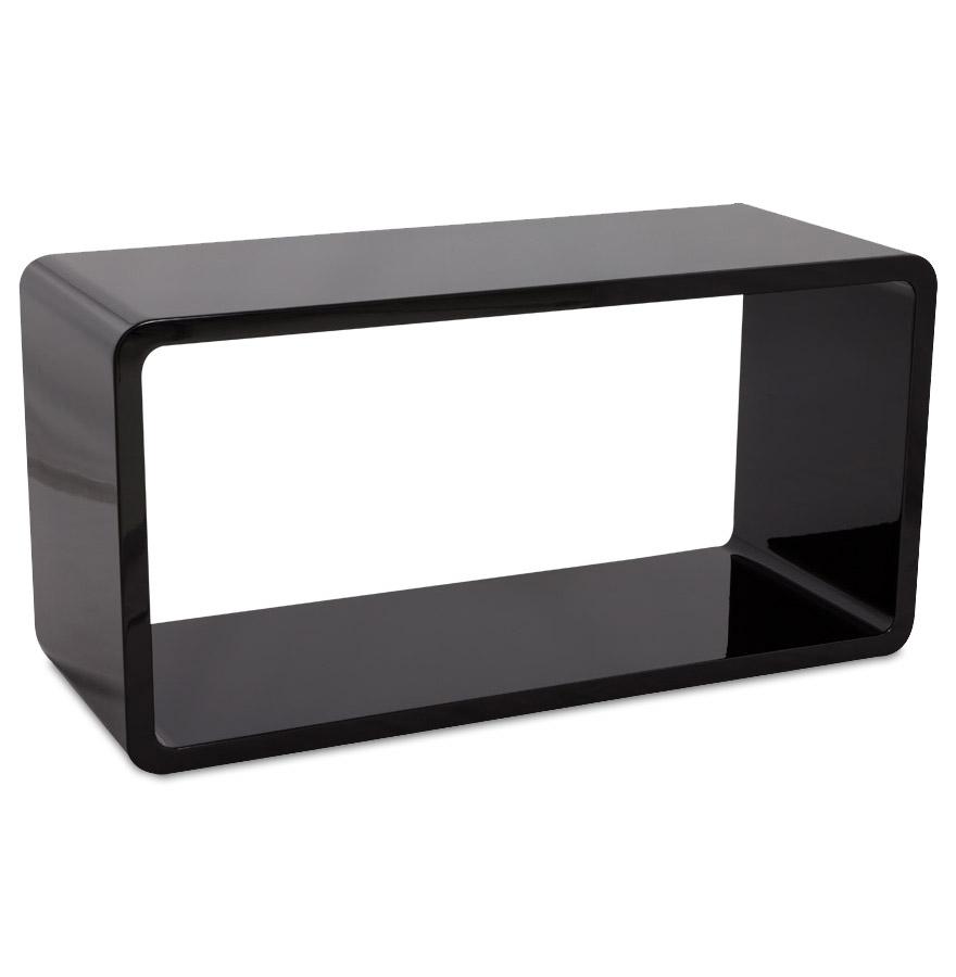 cube de rangement uno en bois noir meuble de rangement. Black Bedroom Furniture Sets. Home Design Ideas