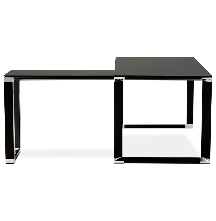 bureau d 39 angle design xline en verre noir bureau de. Black Bedroom Furniture Sets. Home Design Ideas