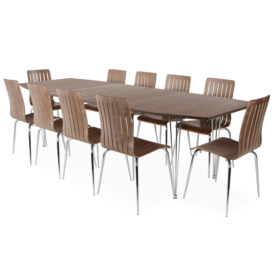 Table de salle manger xtend noyer extensible 2 allonges table design - Grande table de salle a manger avec rallonges ...