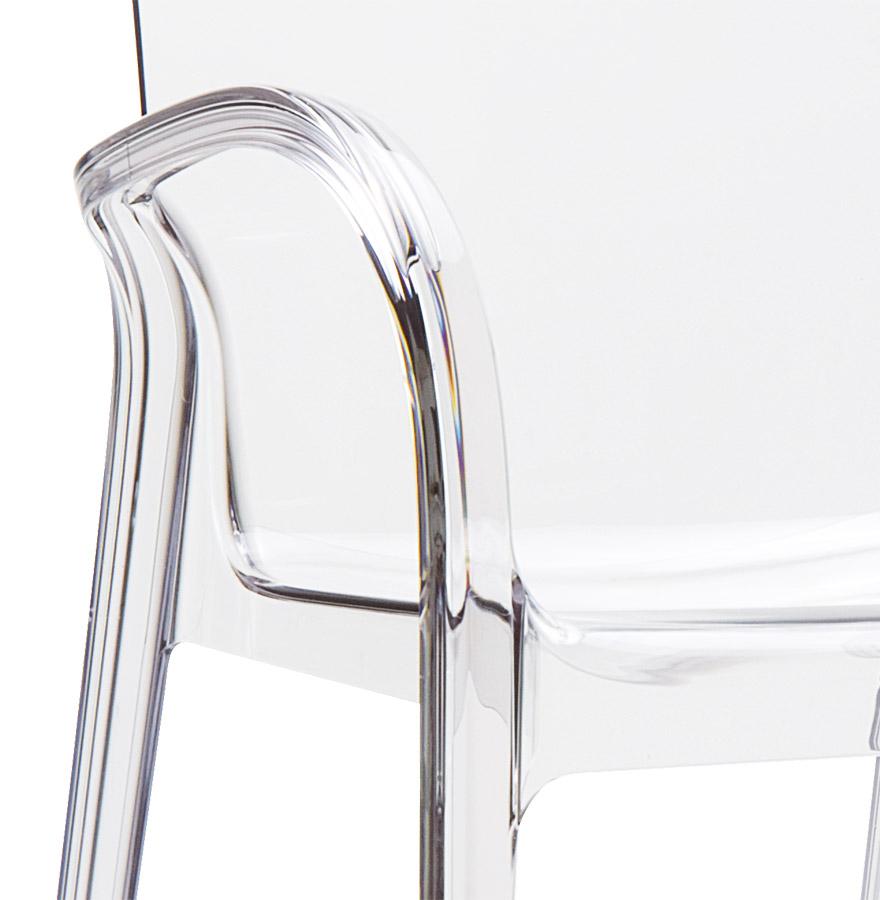 Chaise moderne ying en mati re plastique transparente - Chaise en verre transparente ...
