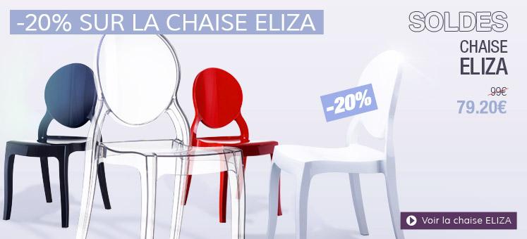 Chaise retro ELIZA en solde - Alterego Design